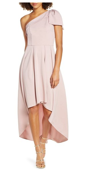 Chi Chi London one-shoulder high/low party dress in pink