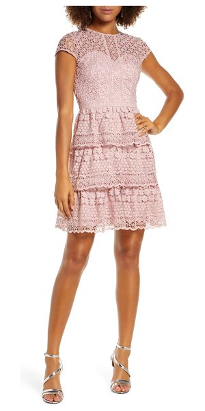 Chi Chi London sloanie embroidered mesh party dress in pink