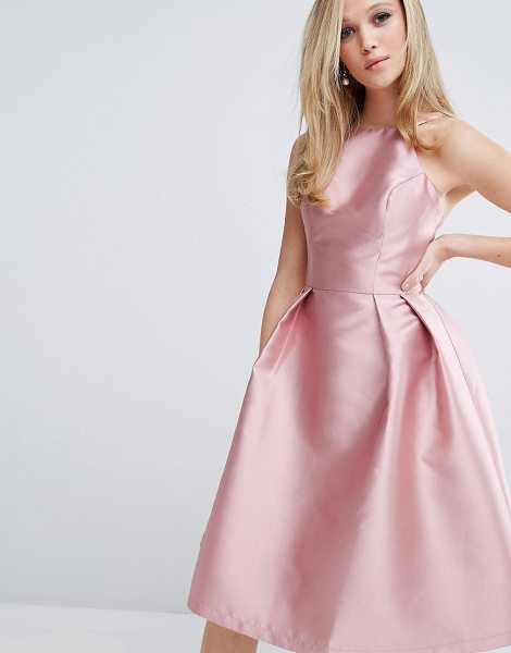 "Chi Chi London structured satin prom dress in rose - """"Dress by Chi Chi London, Smooth structured satin..."