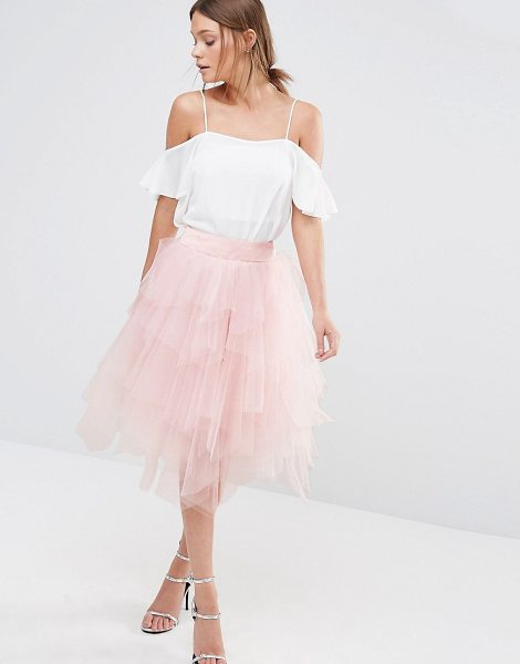 CHI CHI LONDON Tulle Midi Skirt in Layers - Midi skirt by Chi Chi London, Layered tulle, High-rise...