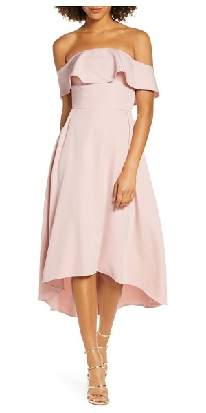 Chi Chi London wanda off the shoulder party dress in pink
