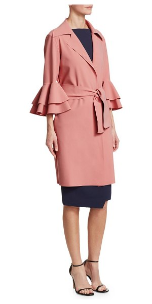 Chiara Boni La Petite Robe jerry bell sleeve jacket in rosa - Open front jacket with tiered bell sleeves. Notch...