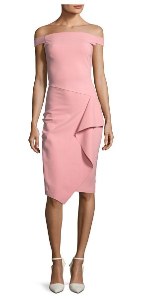 Chiara Boni La Petite Robe Kriti Off-the-Shoulder Draped Cocktail Dress in rose quartz - EXCLUSIVELY AT NEIMAN MARCUS (Aqua only) Chiara Boni La...