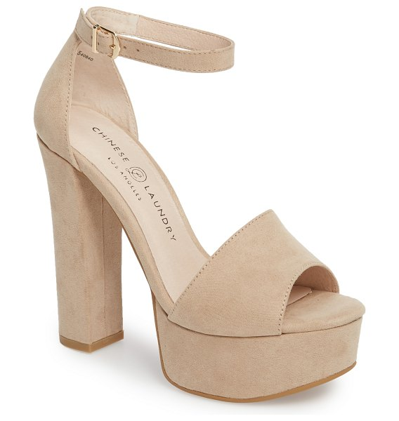 Chinese Laundry avenue2 platform sandal in beige