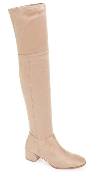 Chinese Laundry felix over the knee boot in beige