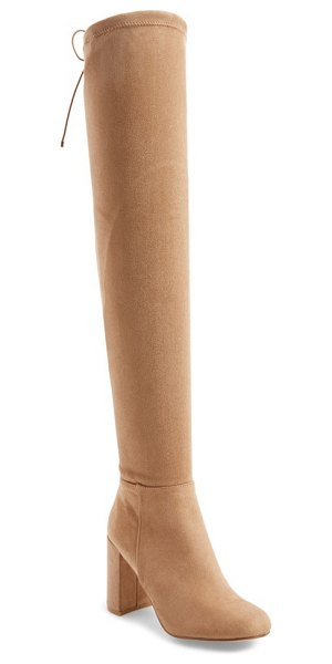 Chinese Laundry krush over the knee boot in mink suede - A soaring over-the-knee shaft secured by slim drawstring...