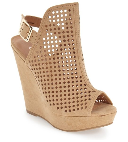 CHINESE LAUNDRY magnolia perforated platform wedge sandal - Circular perforations further the breezy vibe of a...