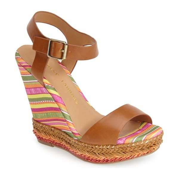 Chinese Laundry mahalo wedge sandal in cognac - A striped wedge heel and woven accents bring...