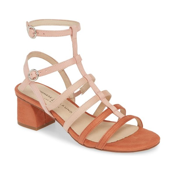 Chinese Laundry monroe strappy cage sandal in coral