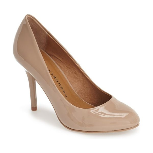 CHINESE LAUNDRY palace almond toe pump in nude patent - A clean-lined almond-toe pump channels elegant...