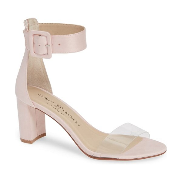 Chinese Laundry reggie ankle strap sandal in pink