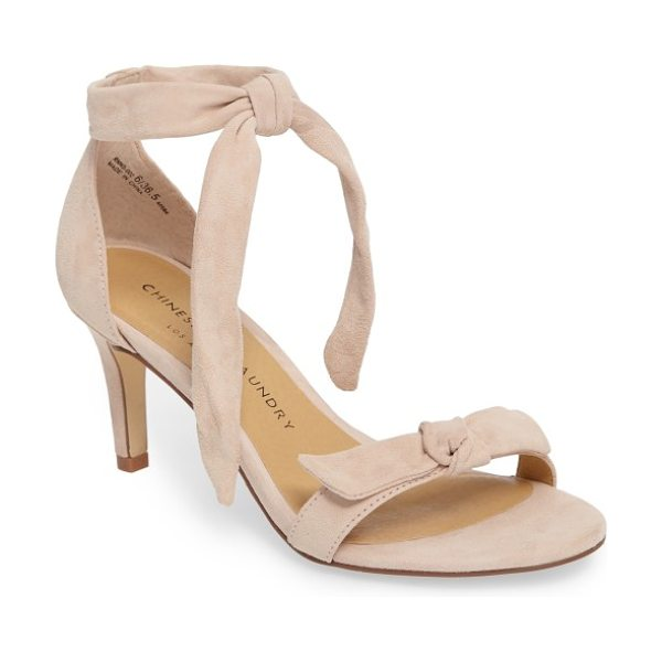 Chinese Laundry rhonda ankle tie sandal in rose suede