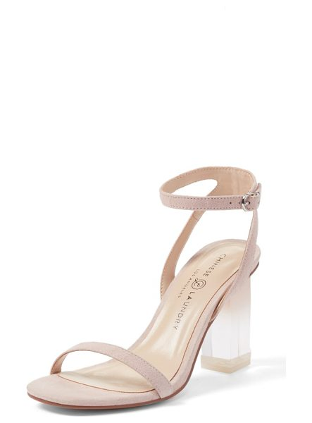 CHINESE LAUNDRY shanie clear heel sandal - Ombre tinting defines the clear statement heel of a...