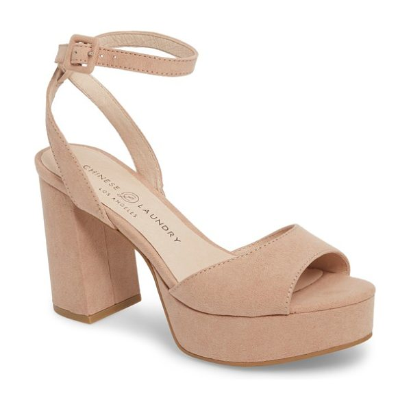 Chinese Laundry theresa platform sandal in beige