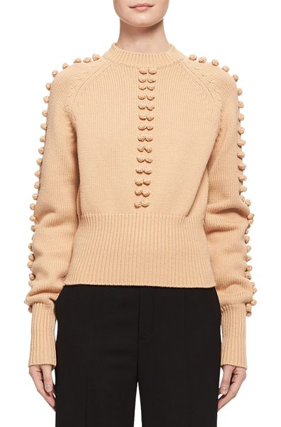 CHLOE Bauble-Detail Mock-Neck Sweater - Chlo sweater featuring bauble details at center front...