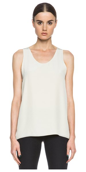 Chloe Crepe de chine tank in neutrals - Self & Lining: 100% silk.  Made in Madagascar.