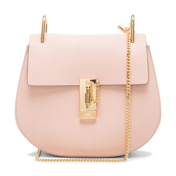 CHLOE Drew Medium Shoulder Bag - Grained lambskin leather with calfskin suede lining and...