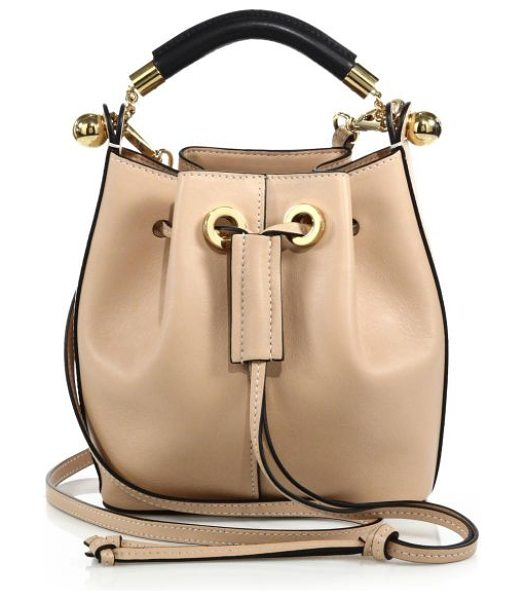 Chloe Gala small leather bucket bag in blush