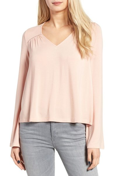 Chloe & Katie bell sleeve top in dusty pink - Sweet and simple from the front, this supersoft...