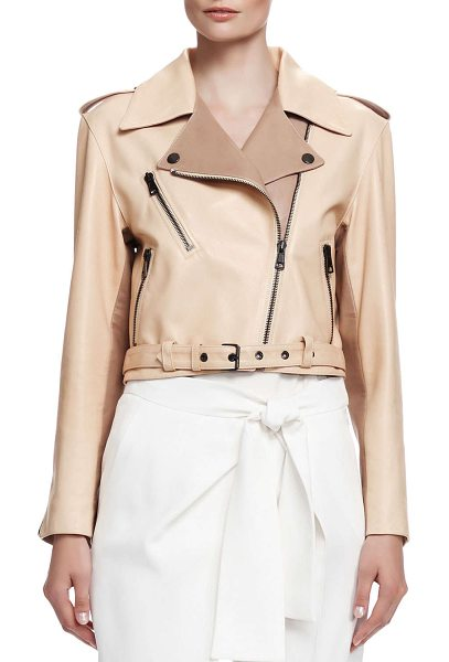 CHLOE Laced-back napa leather jacket - Chloe jacket in tone-on-tone napa lambskin leather....