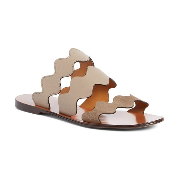 Chloe lauren slide sandal in beige multi - In a mix of neutral hues and luxe textures, this...