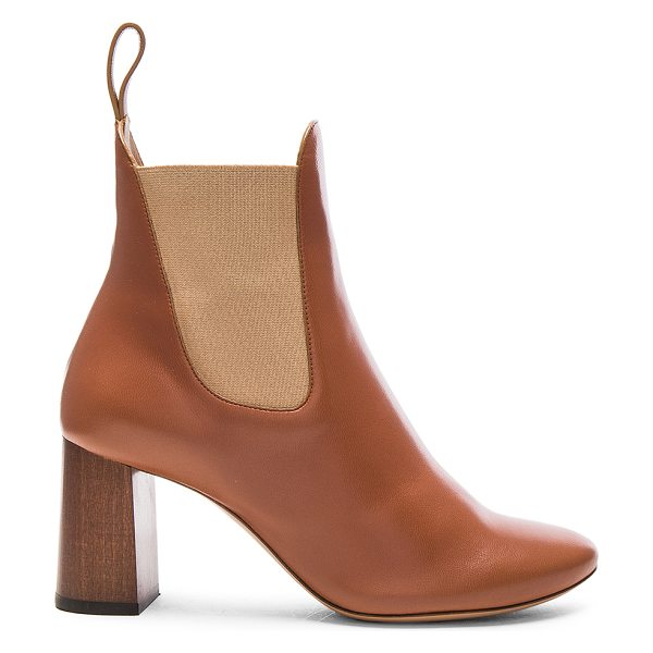 Chloe Leather Harper Ankle Boots in brown delight - Leather upper and sole. Made in Italy. Shaft measures...