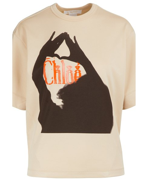 Chloe Limited edition - Logo T-shirt in camel