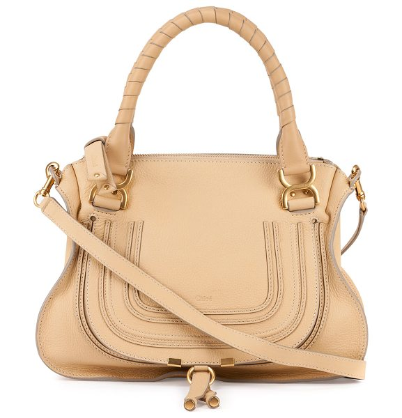 CHLOE Marcie Medium Leather Satchel Bag - Chloe medium satchel bag in soft calfskin leather....