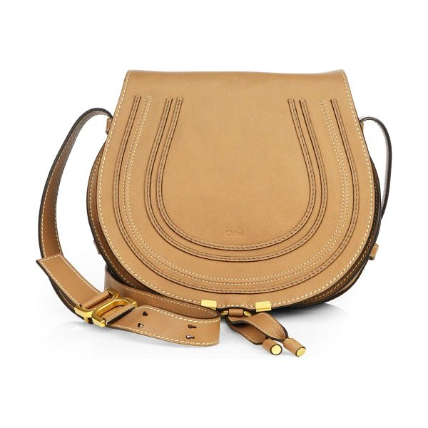 Chloe medium marcie leather saddle bag in nut - From the Saks IT LIST. THE SADDLE BAG. An equestrian...