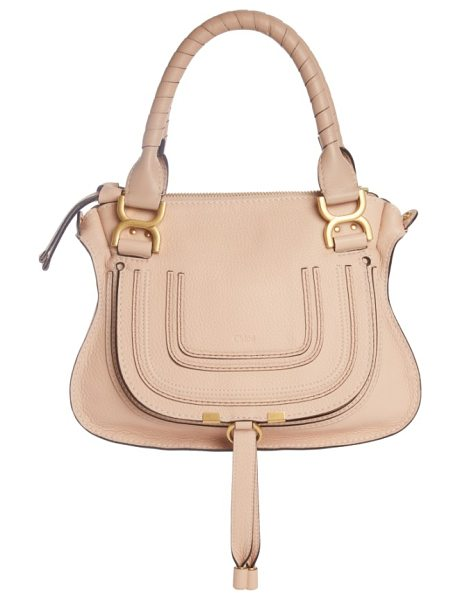 CHLOE marcie small double carry bag - A textured, curvy flap anchored by metal-tipped tassels...