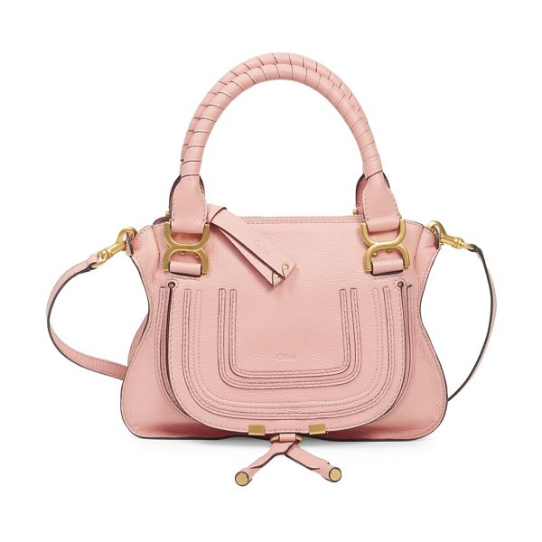 Chloe small marcie leather satchel in idealblush - Leather bag with double top handles. Double top handles....