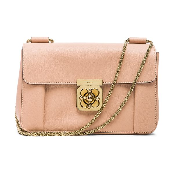 Chloe Medium elsie shoulder bag in neutrals - Goatskin leather with lambskin leather lining and...