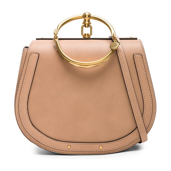 Chloe medium nile calfskin & suede bracelet bag in biscotti beige
