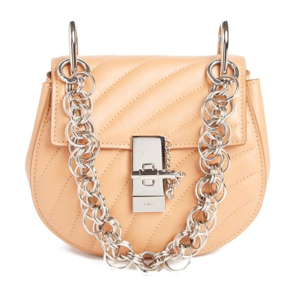 Chloe mini drew bijoux leather shoulder bag in pink - A jewel box of a bag, this matelasse leather style...