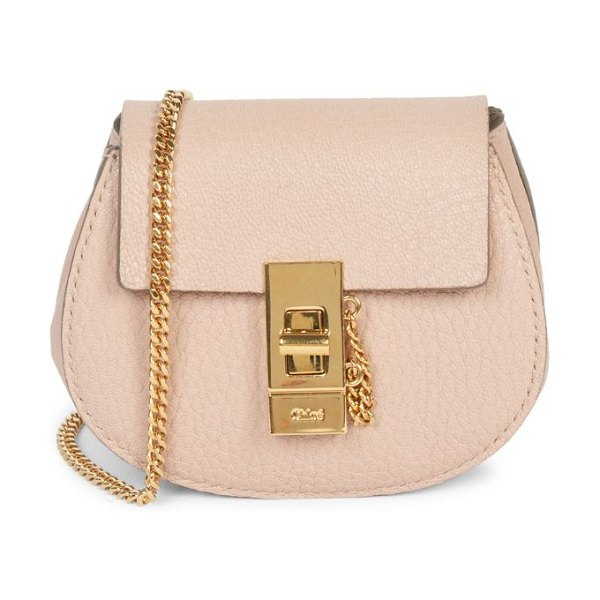 Chloe mini drew leather backpack in cement pink