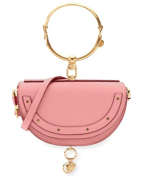 Chloe Nile Small Bracelet Minaudiere Bag in pink - Chloe smooth calfskin minaudiere bag. Golden hardware....
