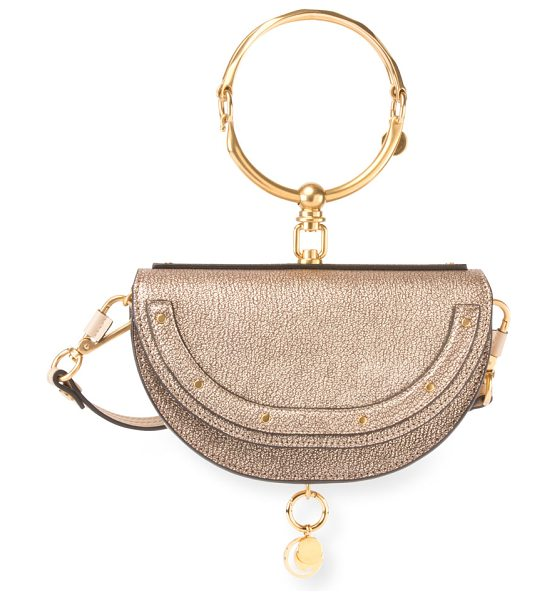 CHLOE Nile Small Metallic Bracelet Minaudiere Bag - Chloe metallic goatskin leather minaudiere bag with...