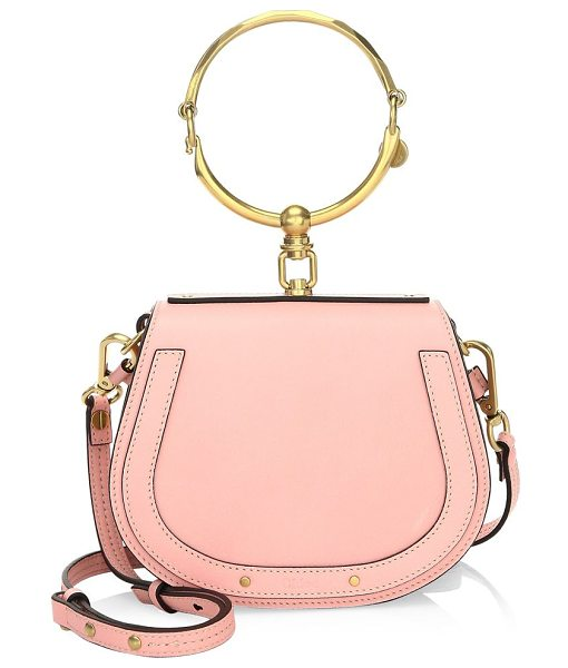Chloe small nile leather bracelet bag in pink - From the Saks IT LIST. THE SADDLE BAG. An equestrian...