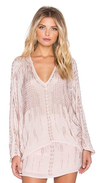 Chloe Oliver The lock down love top in pink - Silk blend. Bead embellishment throughout. CHLR-WS14. CO...