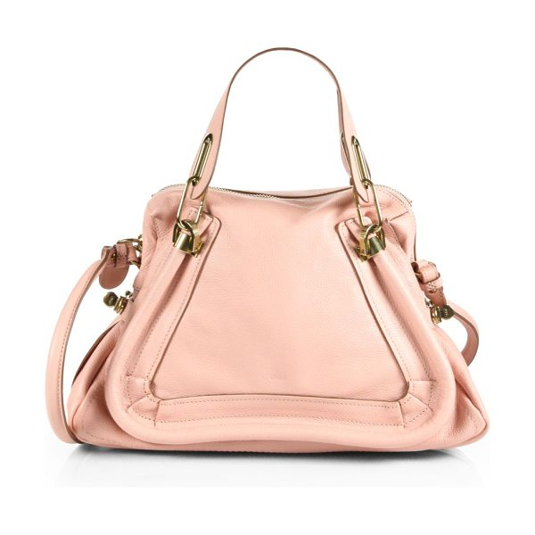 Chloe Paraty medium tote in anemonepink - Luxurious calfskin leather with double top handles and...