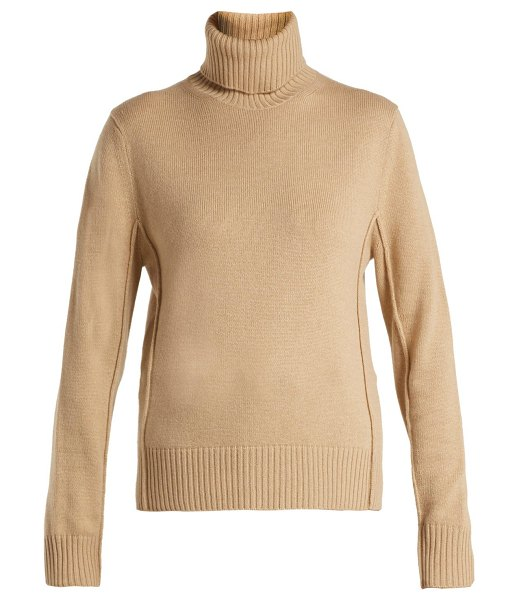 Chloe Roll Neck Cashmere Sweater in light brown - Chloé - Chloe's Pre-AW18 collection has an air of French...