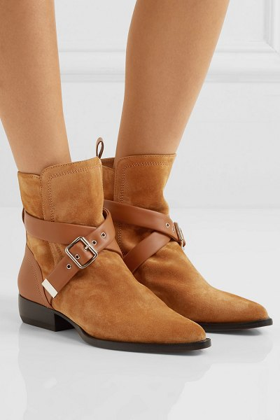 Chloe rylee suede and leather ankle boots in tan