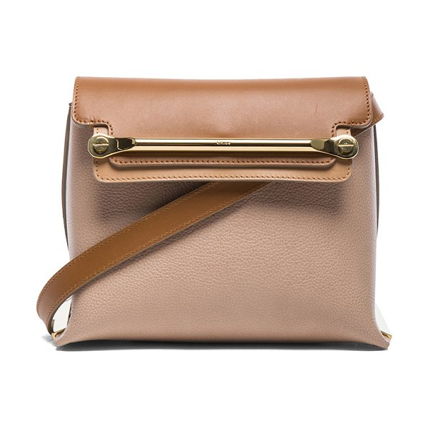 Chloe Small clare bag in neutrals - Calfskin leather with lambskin leather lining and...