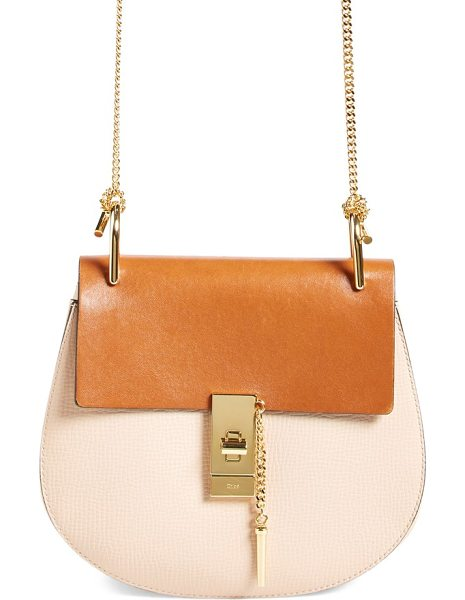 CHLOE 'small drew' leather shoulder bag - Chloe's newest take on the saddle bag is the epitome of...
