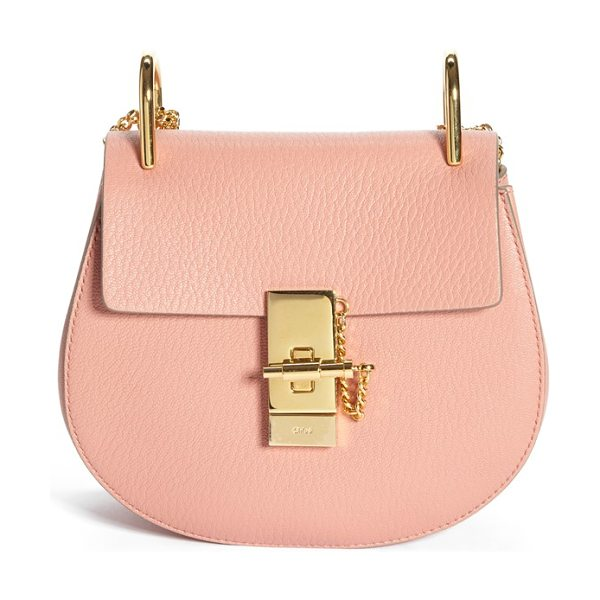Chloe Small drew leather shoulder bag in misty rose - Chloe's newest take on the saddle bag is the epitome of...