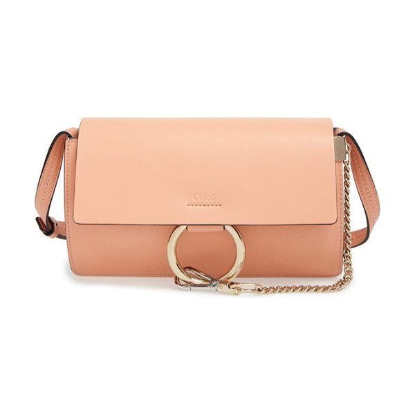 Chloe Small faye shoulder bag in bed rose quartz