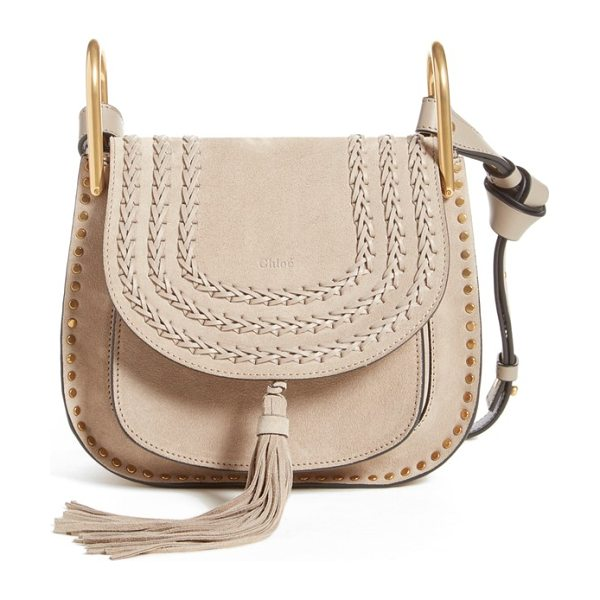 Chloe Small hudson shoulder bag in sheer pink - A swishy tassel, brassy studs and dense decorative...