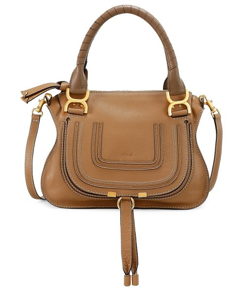 Chloe small marcie leather satchel in nut