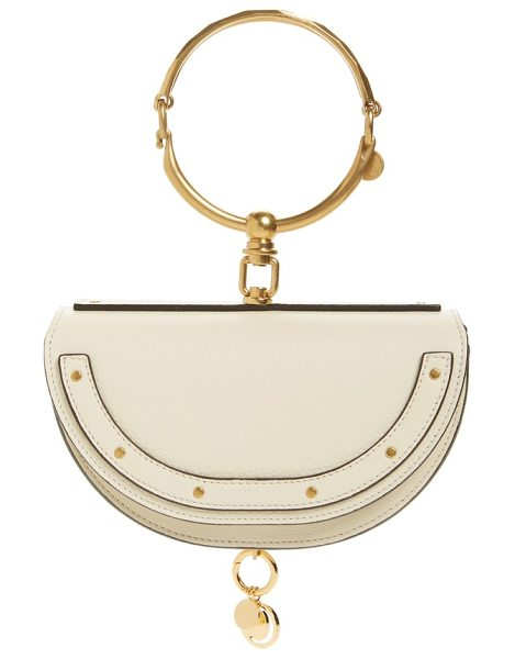 CHLOE small nile bracelet calfskin leather minaudiere - An articulated Chloe bracelet and a dangling logo charm...