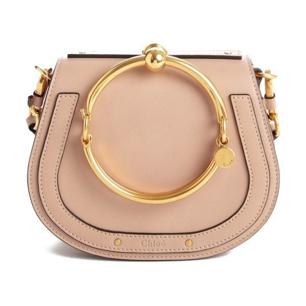 Nile small and suede leather cross body bag Chlo QwXwNg